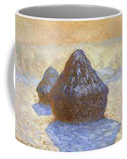 Haystacks, Snow Effect - Digital Remastered Edition Coffee Mug