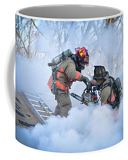 Coffee Mug featuring the photograph Hazardous Duty by Carl Young