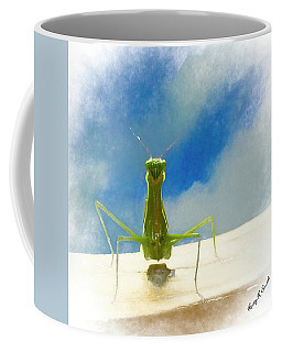 Head On View Of Praying Mantis. Coffee Mug