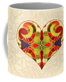 Coffee Mug featuring the digital art Heart Illustration - Creating Passionate Experience - Omaste Witkowski by Omaste Witkowski