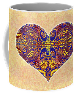 Coffee Mug featuring the digital art Heart Illustration - Exploding Possibilities - Omaste Witkowski by Omaste Witkowski