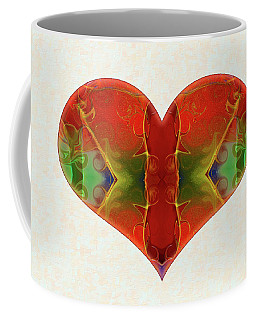 Coffee Mug featuring the digital art Heart Painting - Vibrant Dreams - Omaste Witkowski by Omaste Witkowski