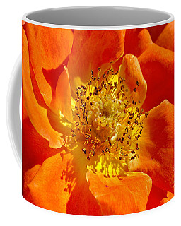 Heart Of The Orange Rose Coffee Mug