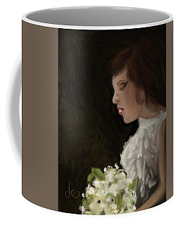 Coffee Mug featuring the painting Her Big Day by Fe Jones