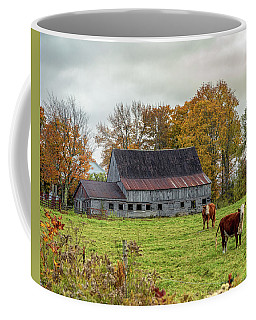 Herefords In Fall Coffee Mug