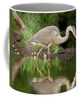 Heron Fishing Coffee Mug