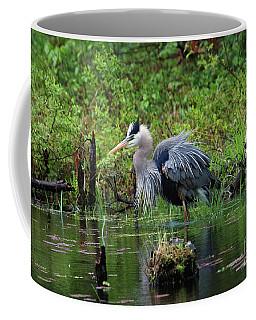 Heron In Beaver Pond Coffee Mug