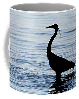 Heron In Silhouette Coffee Mug
