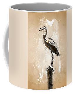 Heron On Post Coffee Mug