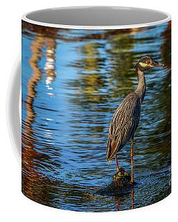Heron On Rock Coffee Mug