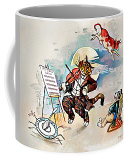 Coffee Mug featuring the digital art Hey Diddle Diddle by Pennie McCracken