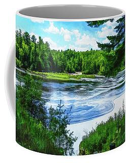 Coffee Mug featuring the photograph Hiawatha's River by Mike Braun
