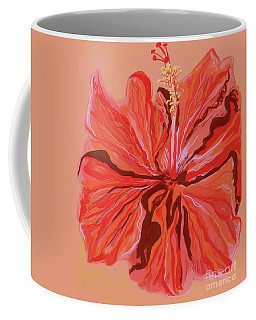 Hibiscus Color Lines Coffee Mug