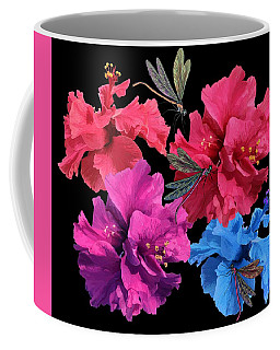 Hibiscus Dragonfly Coffee Mug