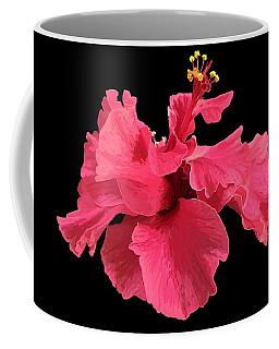 Hibiscus Pink In Black Coffee Mug
