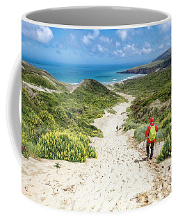 Hiking To Sandfly Bay New Zealand Coffee Mug