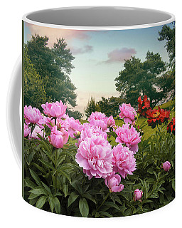 Hillside Peonies Coffee Mug