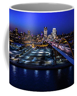 Coffee Mug featuring the photograph Hoan Bridge At Dusk by Randy Scherkenbach