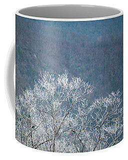 Hoarfrost Collects On Branches Coffee Mug