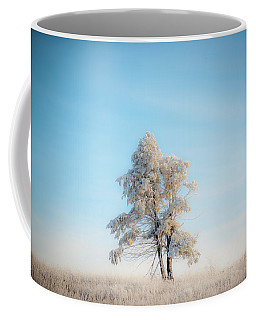Coffee Mug featuring the photograph Hoarfrost On The Prairie by Mark Duehmig