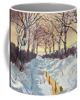 Tunnel In Winter Coffee Mug