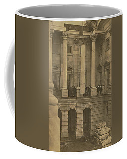 Hoisting Final Marble Column At United States Capitol Coffee Mug