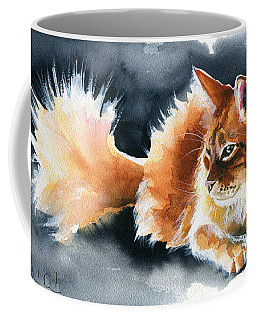 Holy Ginger Fluff - Cat Painting Coffee Mug