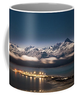 Homer Spit With Moonlit Mountains Coffee Mug