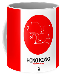 Hong Kong Red Subway Map Coffee Mug