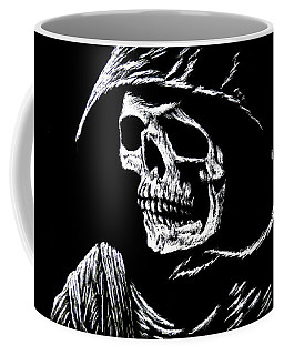 Hooded Skull Coffee Mug