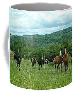 Horse And Cow Coffee Mug