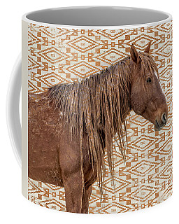Coffee Mug featuring the photograph Horse Blanket by Mary Hone