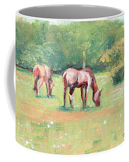 Horses In The Fields Coffee Mug