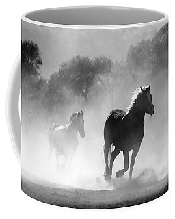 Horses On The Run Coffee Mug