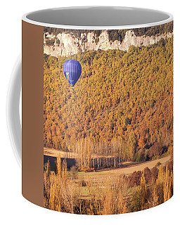 Coffee Mug featuring the photograph Hot Air Balloon, Beynac, France by Mark Shoolery