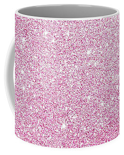 Hot Pink Glitter Coffee Mug