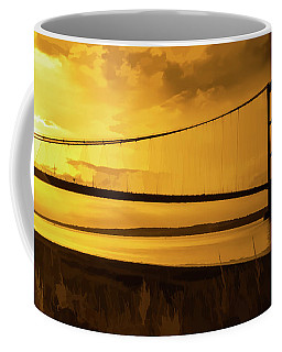 Humber Bridge Golden Sky Coffee Mug