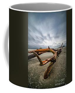 Hurricane Florence Beach Log - Portrait Coffee Mug