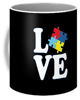 Coffee Mug featuring the digital art I Love Autism by Flippin Sweet Gear