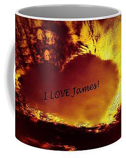 I Love James Heart Coffee Mug