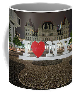 Coffee Mug featuring the photograph I Love Ny by Brad Wenskoski