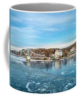 Coffee Mug featuring the photograph Ice Blue   by Michael Hughes