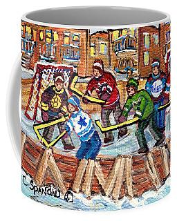 Ice Rinks Winter Scenes Hockey Teams Bruins Sens Flames Leafs Habs Oilers C Spandau Hockey Artist    Coffee Mug