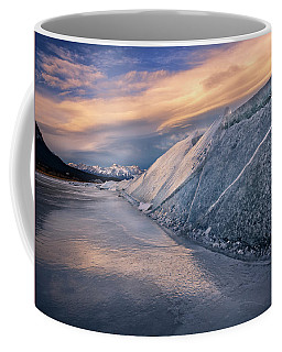 Ice Sheets On Abraham Lake Coffee Mug