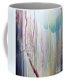 Ice Tiger - A Large Oil On Canvas By Gill Bustamante Of A Tiger By A Waterfall Coffee Mug