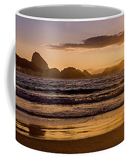 Idyllic Sunrise In Copacabana Beach In Rio De Janeiro, Brazil Coffee Mug