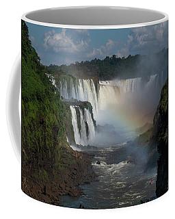 Iguazu Falls With A Rainbow Coffee Mug