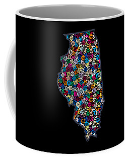 Illinois Map - 2 Coffee Mug