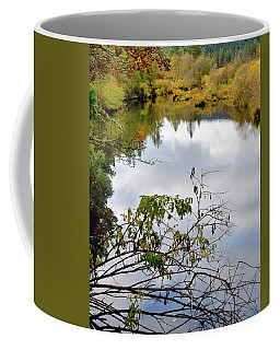 Coffee Mug featuring the photograph Illinois River Sky Reflection by Jerry Sodorff