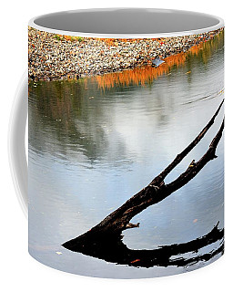Coffee Mug featuring the photograph Illinois River Stump by Jerry Sodorff